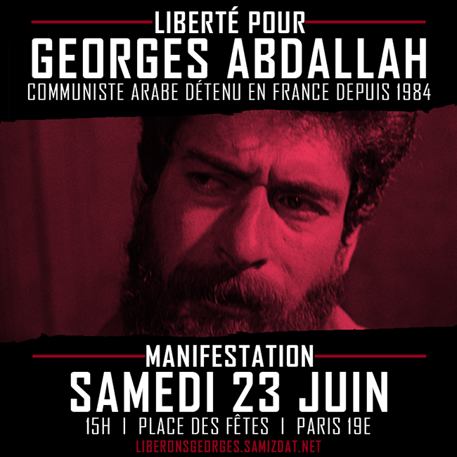 Manifestation nationale pour Georges Ibrahim Abdallah