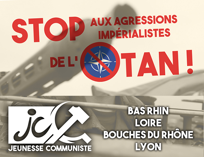 NO TO NATO! NO TO WAR! DOWN WITH IMPERIALISM!