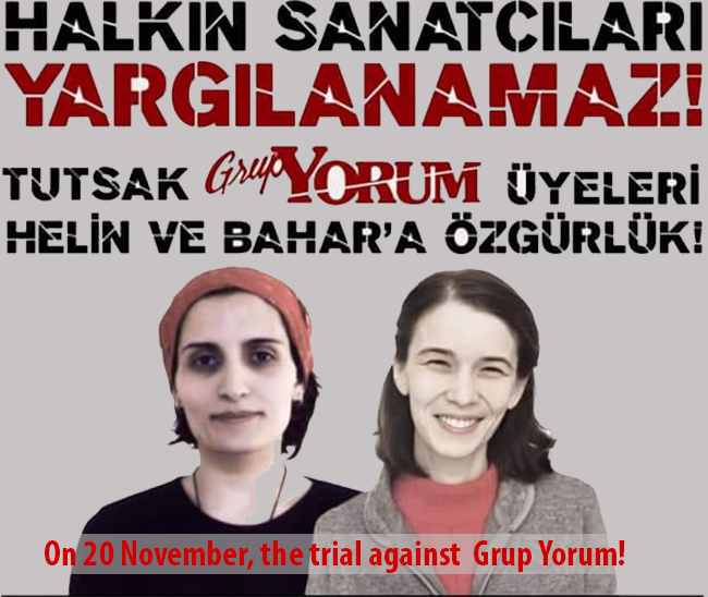 On 20 November, the trial against Grup Yorum!