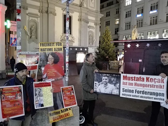 Solidarity action for Grup Yorum and Mustafa Koçak continues in Austria with th