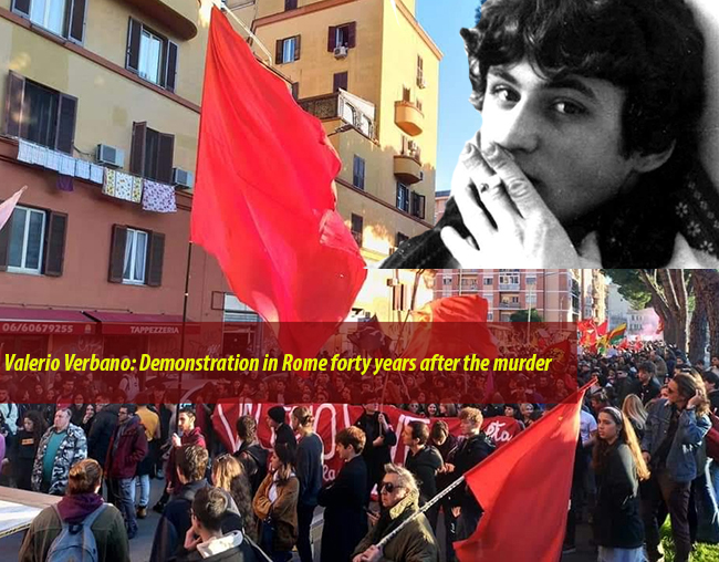 Valerio Verbano: Demonstration in Rome forty years after the murder